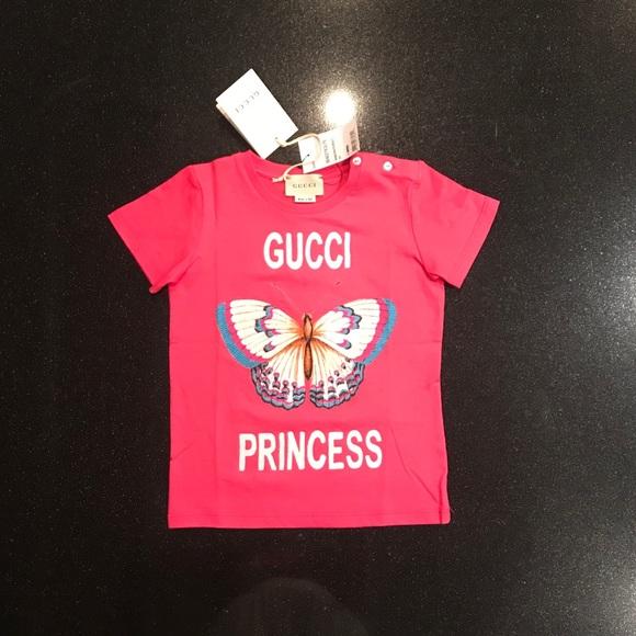 7266e1a2a Gucci Shirts & Tops   Pink Butterfly Princess Shirt 24 M   Poshmark